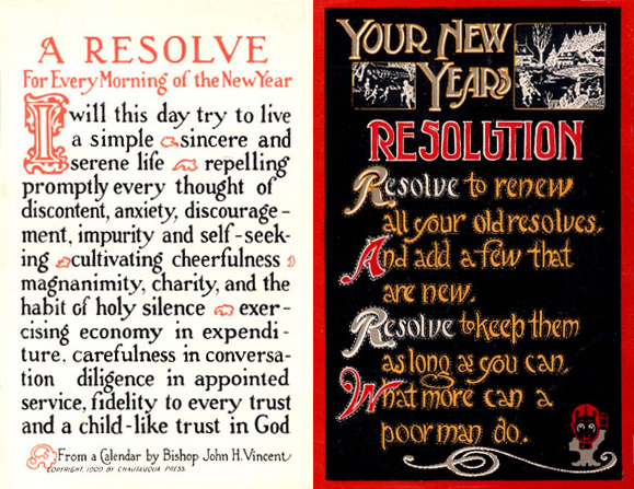 Your New Year's Resolutions